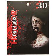 billige Midlertidig maling-Tatoveringsklistermærker Andre Ikke Giftig Halloween 3DDame Herre Voksen Teenager Flash tatovering Midlertidige Tatoveringer