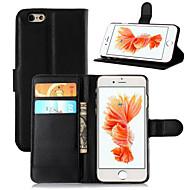 Kompatibilitás iPhone 8 iPhone 8 Plus iPhone 6 iPhone 6 Plus tokok Pénztárca Kártyatartó Állvánnyal Flip Teljes védelem Case Tömör szín