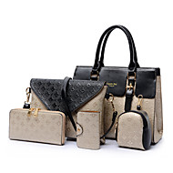 cheap Bags-Women's Bags PU Tote Card & ID Holder Coin Purse Bag Set Mobile Phone Bag Shoulder Bag Wallet 5 Pieces Purse Set for Wedding Event/Party
