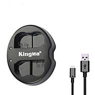 kingma® Nikon D750 D7100 D7000 d610 d600 D800E kamera nikon en-EL15 pil için çift yuva usb pil şarj cihazı
