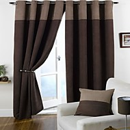 cheap -Rod Pocket Grommet Top Tab Top Double Pleat Two Panels Curtain Modern , Jacquard Living Room Polyester Material Blackout Curtains Drapes