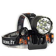 3 ヘッドランプ 自転車用ライト ヘッドライト LED 7000 lm 3 モード Cree XM-L T6 耐衝撃性 充電式 防水 ストライクベゼル ミリタリー 緊急 キャンプ/ハイキング/ケイビング 日常使用 サイクリング 狩猟 釣り 旅行 登山 屋外