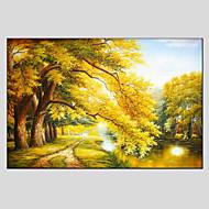 halpa -Maalattu Kukkakuvio/KasvitiedeModerni / European Style 1 paneeli Kanvas Hang-Painted öljymaalaus For Kodinsisustus