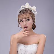 Damen Chiffon Spitze Kopfschmuck-Hochzeit Besondere Anlässe Kopfschmuck Blumen Mützen Netzschleier 1 Stück
