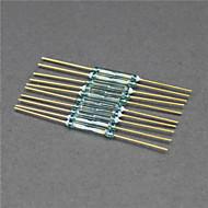 halpa -kielikytkimen / magneettinen kytkin / lasi koko - kultainen + vihreä (10 kpl / 2 x 14mm)
