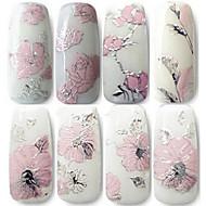 Cvijet / Lijep - 3D Nail Naljepnice / Nakit za nokte - za Prst - 11cm*11cm - 1pcs kom. - PVC