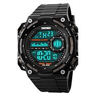 billige Sportsur-SKMEI Herre Digital Digital Watch Armbåndsur Sportsur Alarm Kalender Kronograf Vandafvisende Sportsur LCD Gummi Bånd Sej Sort