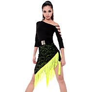 billige Udsalg-Latin Dans Dragter Dame Ydeevne Rayon Polyester Kvast Top Nederdel