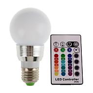 1pc 3w e26 / e27 led stojatá světla trubka vysoký výkon led rgb dálkově ovládané dekorativní ac85-265v
