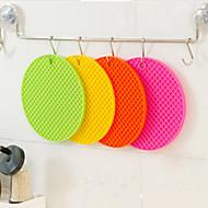 eenvoudige snoep kleuren silica ronde isolatie mat willekeurige kleur