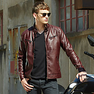 Men's Slim Jacket - Solid Colored Stand / Long Sleeve