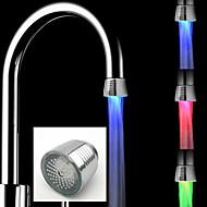 billige Rabatt Kraner-ledet kranetemperaturføler kjøkken ledet vannkraner kranhoder rgb gløddusj strømbad 3 fargeskift