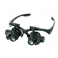 お買い得  拡大鏡-単眼鏡 虫眼鏡 高解像度 LED ヘッドセット 広角 ジェネリック Fogproof 耐候性 20 25 プラスチック アルミニウム メタル