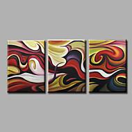 halpa -Maalattu AbstraktiModerni 3 paneeli Kanvas Hang-Painted öljymaalaus For Kodinsisustus