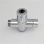 Chrome G1/2 (1/2'') T-adapter, Brass Valve Core Solid Brass Shower Water Separator For Bath Shower Or Bidet