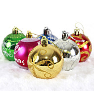 "cheap Holiday Decorations-6PCS/SET 6CM/2.4"" Mixed Colors and Styles Christmas Tree Decorations Hanging Shining Bubles Ball Party Xmas Ornaments"