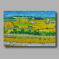 Hand-Painted Abstract Oil Painting Canvas Van Gogh repro Harvest Farm Autumn Home Deco one Panel