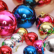 "cheap Holiday Decorations-12PCS/SET 3CM/1.2"" Mixed Colors Christmas Tree Decorations Snow Ball Party Festival Xmas Ornaments Supply"