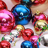 """זול עיצוב-12pcs / להגדיר 3 ס""""מ / 1.2 """"צבעים מעורבים אספקת קישוטי עץ חג המולד קישוטי חג מולד המפלגה כדור שלג"""