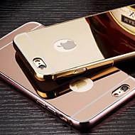 billiga Mobil cases & Skärmskydd-fodral Till Apple iPhone 6 iPhone 6 Plus Plätering Spegel Skal Ensfärgat Hårt Metall för