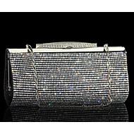 tanie Kopertówki i torebki wieczorowe-Damskie Torby Inny rodzaj skóry Torebka wieczorowa Dodatki kryształowe na Wydarzenie / impreza Lato Gold Black Silver