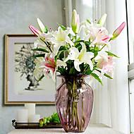 Gren Silke Plastikk Liljer Bordblomst Kunstige blomster 96x20x20cm