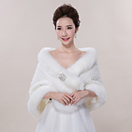 cheap -Sleeveless Faux Fur Wedding / Party Evening / Casual Wedding  Wraps / Fur Wraps With Shawls