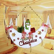 """זול עיצוב-53 * 51cm / 21 * 20 שטיחי דלתות ירח שלג חג המולד """"קישוט חלון מלון בית עץ חג המולד"""