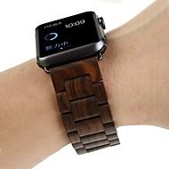 billiga Smart klocka Tillbehör-Klockarmband för Apple Watch Series 4/3/2/1 Apple fjäril spänne Trä Handledsrem