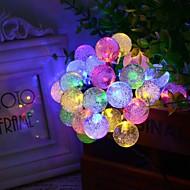 6.5m 30LED kabarcık şekli güneş dize ışıkları ince düğün christmas dekorasyon ışıkları