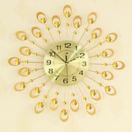 billige Veggklokker-moderne kreativt mote metall glass mute digital vegg hengende klokke