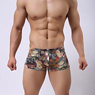 Herre Boxer Shorts - Trykt mønster, Blomstret Alm. taljede