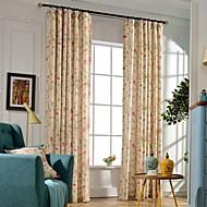 billige Gardiner-Propp Topp Dobbelt Plissert To paneler Window Treatment Moderne Neoklassisk Land, Trykk Soverom Polyester Materiale gardiner gardiner