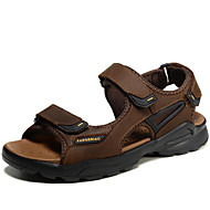 cheap Small Size Shoes-Men's Shoes Nappa Leather Spring Summer Comfort Sandals Water Shoes for Casual Office & Career Outdoor Dress Gray Light Brown