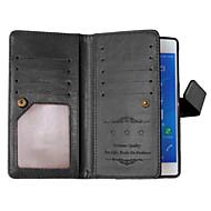 billiga Mobil cases & Skärmskydd-fodral Till Sony Xperia Z3 Sony Xperia M4 Aqua Sony Xperia Z3 Sony-fodral Korthållare Plånbok med stativ Lucka Fodral Ensfärgat Hårt PU