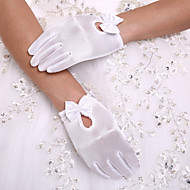 cheap Wedding Gloves-Spandex Wrist Length Glove Party/ Evening Gloves Flower Girl Gloves With Bowknot Pearl