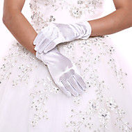 Elasthan / Polyester Handgelenk-Länge Handschuh Klassisch / Brauthandschuhe / Party / Abendhandschuhe Mit Einfarbig