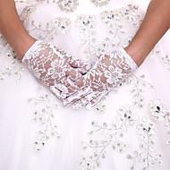 luva de comprimento de pulso de renda luvas de menina de flor estilo feminino clássico