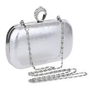 olcso Estélyi táskák-Női Táskák PU Estélyi táska Strasszkő Fekete / Ezüst / Rubin / Esküvői táskák