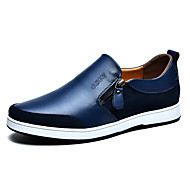 cheap Men's Slip-ons & Loafers-Men's Shoes Casual Leather Loafers / Slip-on Black / Blue / Brown