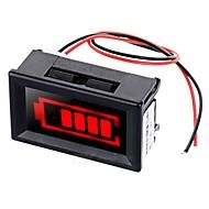 rødt lys elektrisk kvantitet displayer m / strobe alarm for 12V bly-syre akkumulator