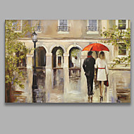 Hand-Painted People Horizontal,Modern One Panel Canvas Oil Painting For Home Decoration