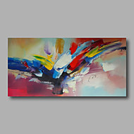 Ready to hang Stretched Hand-Painted Oil Painting on Canvas Wall Art Abstract Contempory Blue Red Yellow