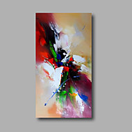 "Ready to hang Stretched Hand-Painted Oil Painting Canvas  40""x20"" Wall Art Abstract Purple Green Blue Red"