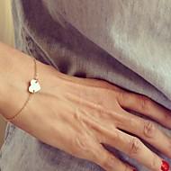 Dame Charm-armbånd - Hjerte, Kærlighed minimalistisk stil, Mode Armbånd Sølv / Gylden Til Julegaver / Fest / Daglig