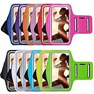 billiga Mobil cases & Skärmskydd-fodral Till iPhone 6s Plus / iPhone 6 Plus / iPhone 6s med fönster / Armbindel Armband Enfärgad Mjukt Textil för