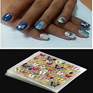 4 Autocollant d'art de clou Bijoux pour ongles Autocollants 3D pour ongles Punk Maquillage cosmétique Nail Art Design