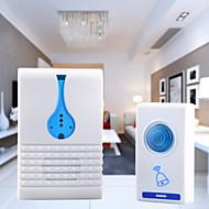 melodie draadloze afstandsbediening zender + ontvanger deurbel set - wit + blauw