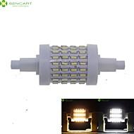 billige Kornpærer med LED-SENCART 7W 550-600lm R7S LED-kornpærer Innfelt retropassform 72 LED perler SMD 4014 Mulighet for demping Varm hvit / Kjølig hvit 85-265V