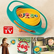 האכלת פלסטיק קערה של 360 מעלות מסתובבות ילדים גמישים קערת הכשרת קערה מסתובבת מזון לתינוקות ג'יירו הקערה לא לשפוך